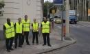 Os agentes da empresa de vigilância que foram contratados para atuar nos 16 maiores blocos da cidade