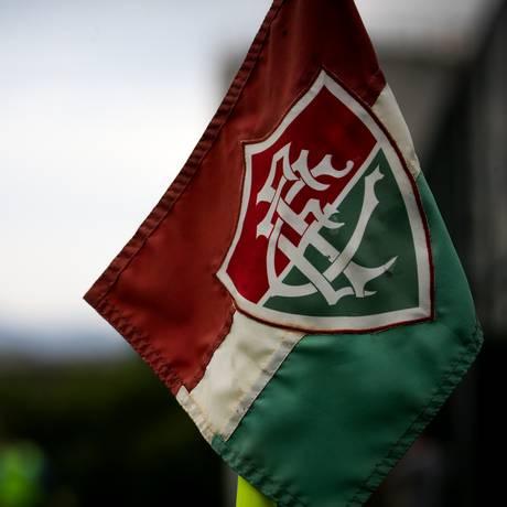 Bandeira do Fluminense no CT Pedro Antonio Foto: Lucas Merçon / Fluminense