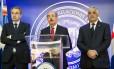 Jose Luis Rodriguez Zapatero, Danilo Medina e Miguel Vargas Maldonado em Santo Domingo