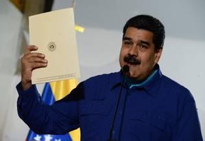 Maduro apresenta candidtura oficial para eleições Foto: FEDERICO PARRA / AFP