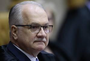 O ministro Edson Fachin, relator da Operação Lava-Jato no Supremo Tribunal Federal Foto: Jorge William / Agência O Globo/14-12-17