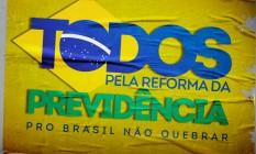 Peça do Facebook para a Campanha Previdência Foto: Divulgação