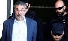 Palocci foi preso em setembro de 2016 e levado para a sede da Polícia Federal em Curitiba Foto: Rodolfo Buhrer / Reuters