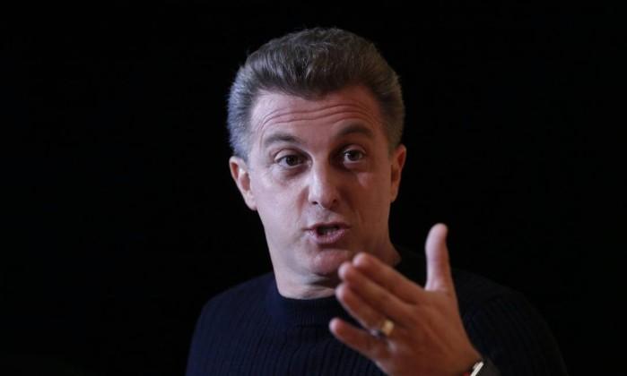 O apresentador Luciano Huck Foto: Marcos Alves / Agência O Globo