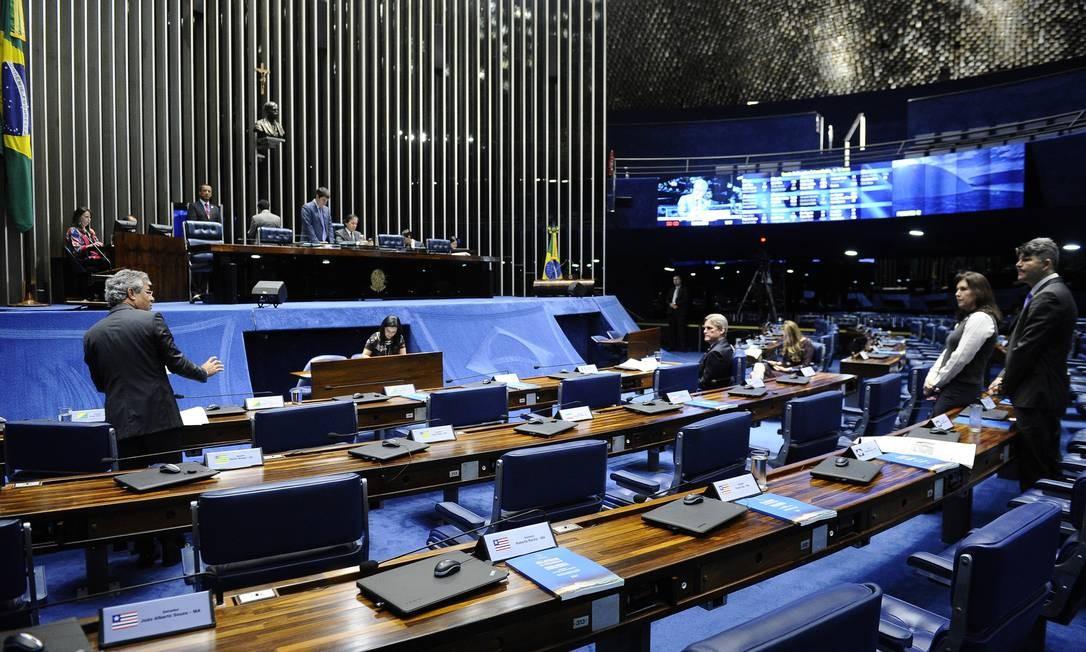 Plenário do Senado, durante sessão deliberativa Foto: Marcos Oliveira/Agência Senado