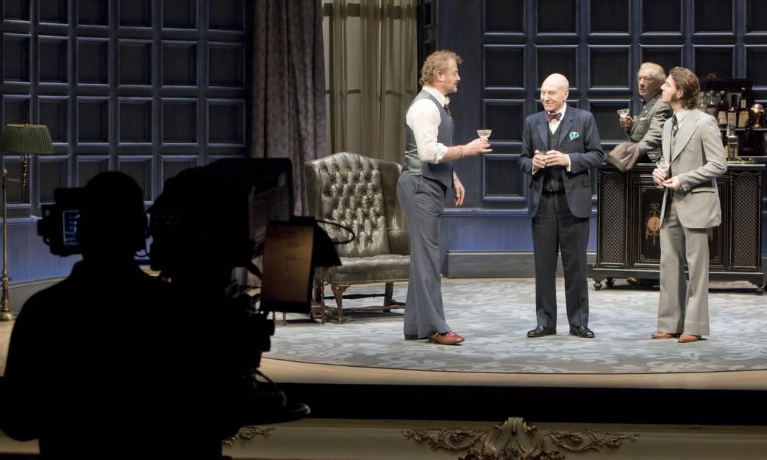 Produção do National Theatre Live para a peça 'No Mans Land' Foto: Divulgação