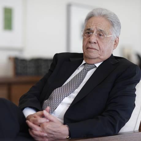 O ex-presidente Fernando Henrique Cardoso em entrevista para O Globo na Fundação FHC Foto: Edilson Dantas / Agência O Globo