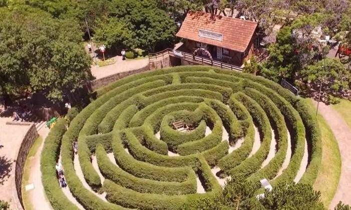 Labirinto Verde, em Nova Petrópolis (RS) Foto: Divulgação