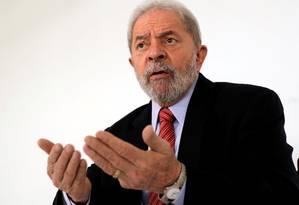 O ex-presidente Luiz Inácio Lula da Silva Foto: Paulo Whitaker / Reuters / 23-8-17