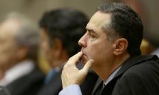 O ministro Luis Roberto Barroso participa da sessão de abertura do Supremo em 2018 Foto: Jorge William/Agência O Globo/01-02-2018