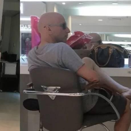 O ex-secretário de Saúde Sérgio Côrtes no Shopping Leblon um dia após deixar o presídio de Benfica Foto: Reprodução