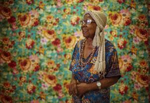 Tia Maria do Jongo é a mais antiga integrante do Império Serrano viva Foto: Daniel Marenco / Agência O Globo
