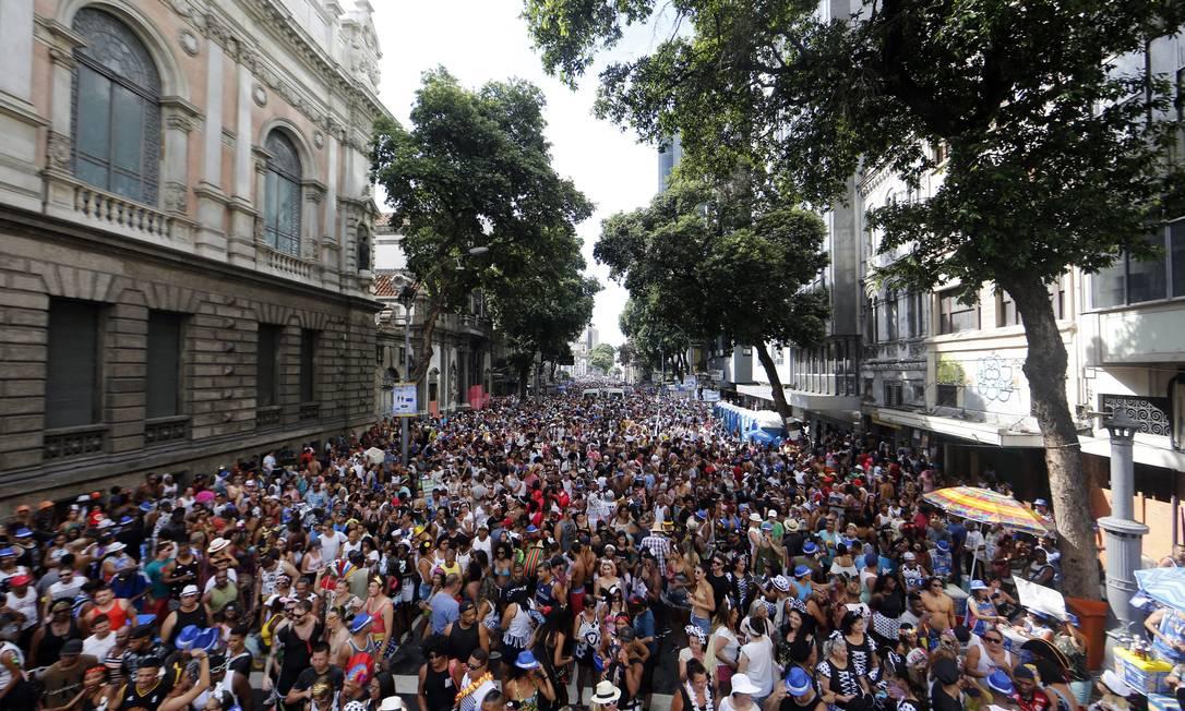 Bloco espera reunir mais de um milhão de foliões Foto: Marcos de Paula / Agência O Globo
