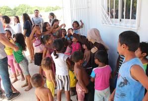 Imigrantes venezuelanos recebem ajuda da Fundação Pan Americana, em Roraima Foto: Fabio Gonçalves/Fotoarena / Agência O Globo / Agência O Globo