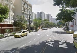 PMs ficaram feridos em avenida no Leblon Foto: Reprodução/Google Maps