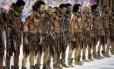 No aniversário de 130 anos da Lei Áurea, a Tuiuti representou a escrivadão