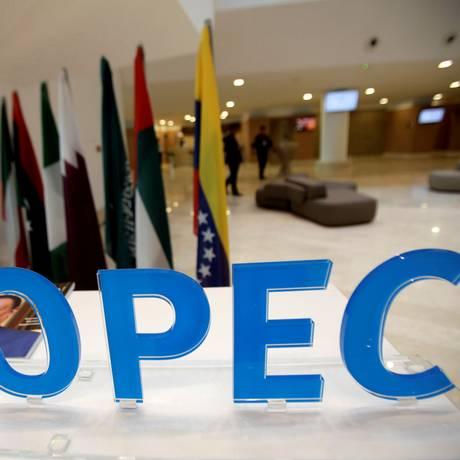 Logomarca da Organização dos Países Exportadores de Petróleo (Opep), cuja sigla em inglês é Opec. Foto: Ramzi Boudina/Reuters