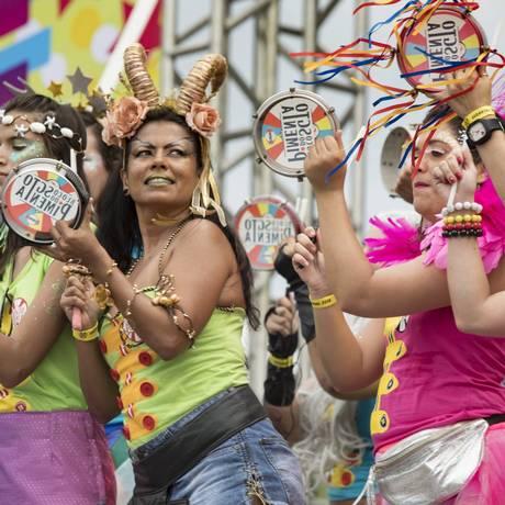 O Sargento Pimenta deu vida às canções dos Beatles em ritmos carnavalescos Foto: Ana Branco / Agência O Globo