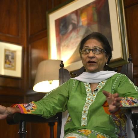 Asma Jahangir morreu aos 66 anos, após sofrer um ataque cardíaco Foto: ARIF ALI / AFP