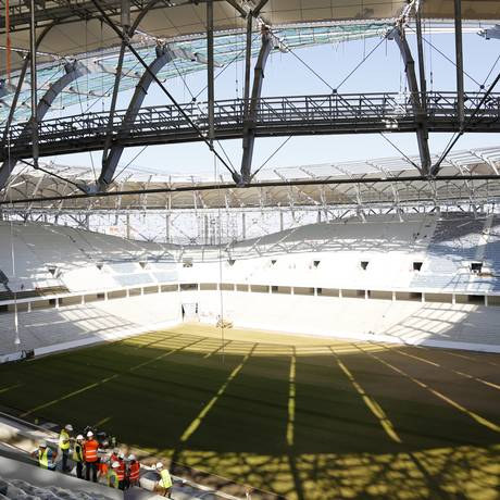 Estádio da Copa do Mundo em Volgograd, na Rússia. AP Foto: AP