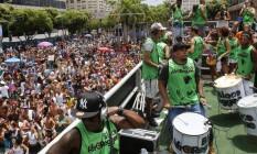 AfroReggae levou 50 mil foliões às ruas do Centro do Rio Foto: Reginaldo Pimenta / Agência O Globo