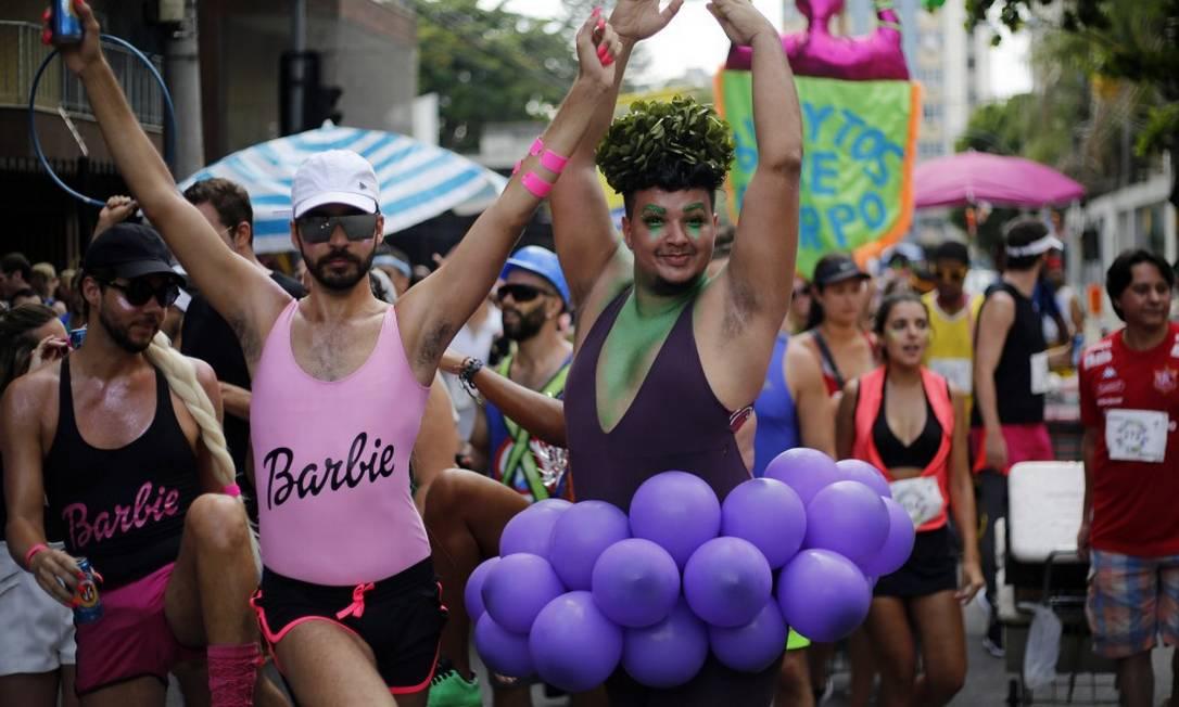 Os organizadores do Bunytos de Corpo estimavam a presença de 20 mil foliões Foto: MARCOS DE PAULA / Agência O Globo