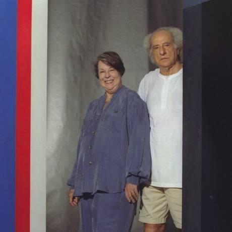 Marilia Valls com o marido, Eduardo Sued, em 1998 Foto: Guto Costa / Agência O Globo