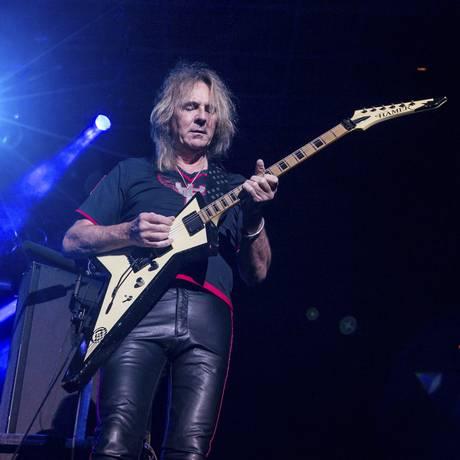 O guitarrista Glenn Tipton, do Judas Priest Foto: Paul A. Hebert/Invision/AP