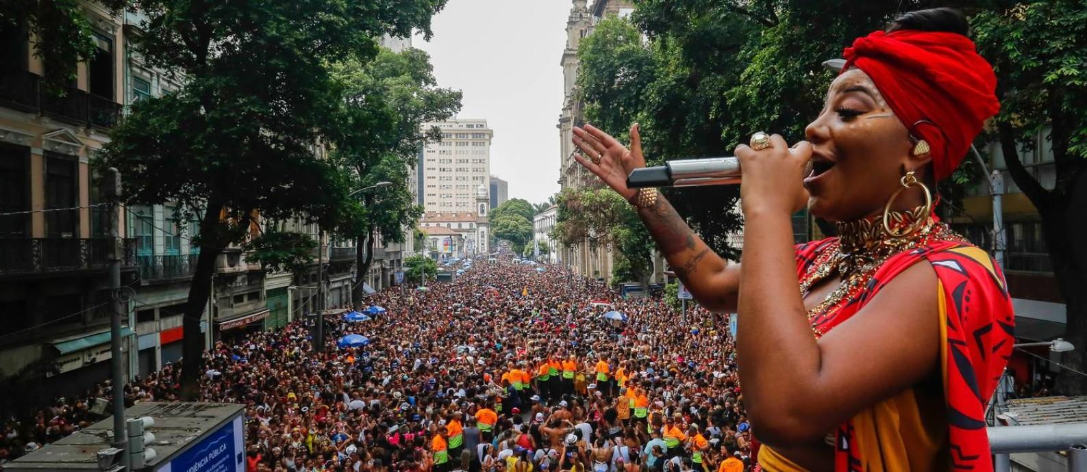 Bloco Fervo da Lud, no Centro do Rio Foto: Marcelo Régua / Agência O Globo