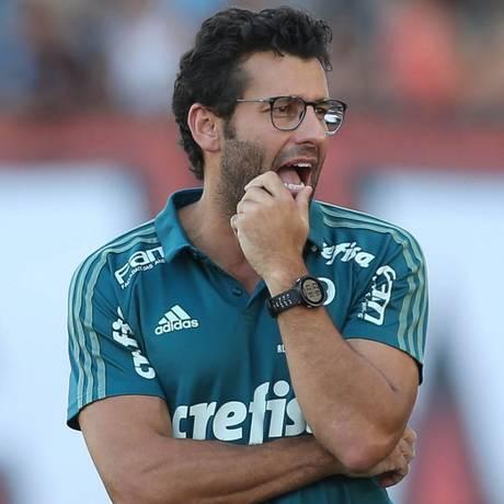 Alberto Valentim foi auxiliar técnico no Palmeiras Foto: Cesar Greco/Palmeiras/Divulgação
