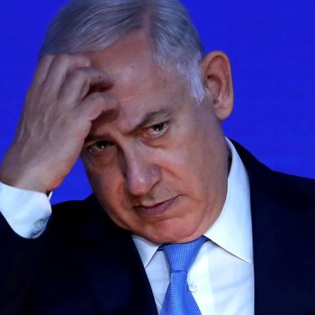O primeiro-ministro de Israel, Benjamin Netanyahu, é suspeito em dois casos de corrupção Foto: EDDIE KEOGH / REUTERS