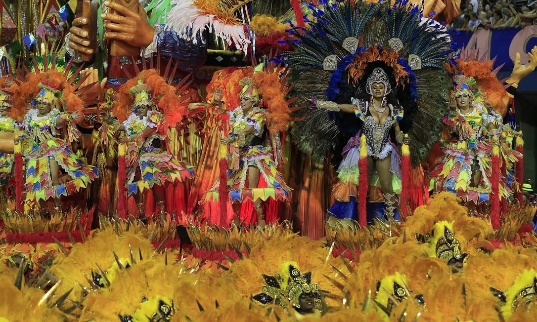 A Acadêmicos do Tatuapé terminou o desfile entre as favoritas da noite Agência O Globo