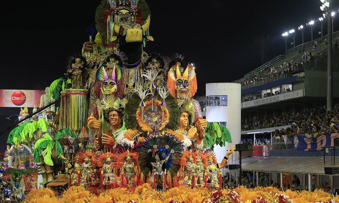 Agremiação trouxe alegorias e fantasias luxuosas que contaram a história do Maranhão Agência O Globo