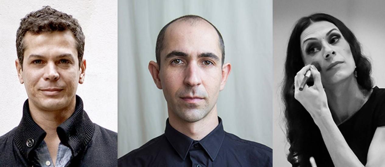 Wagner Schwartz, Maikon K e Renata Carvalho estarão juntos em 'Domínio público' Foto: Fotos de divulgação