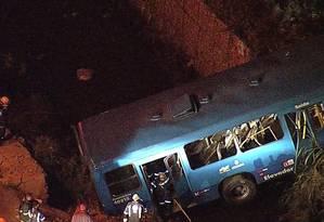 Equipes de socorro já estão no local do acidente, em Belo Horizonte Foto: Reprodução / TV Globo