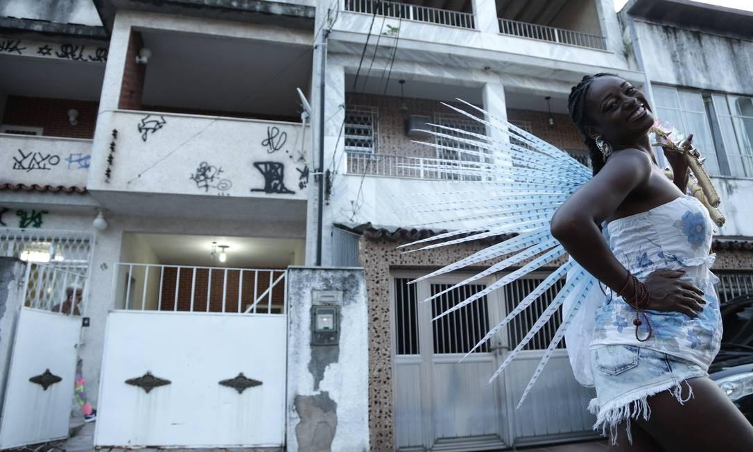 Sandra mora em uma casa de vila no bairro de Madureira, na Zona Norte do Rio Roberto Moreyra / Agência O Globo