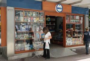 Banca foi reaberta no fim de janeiro Foto: Brenno Carvalho / Agência O Globo