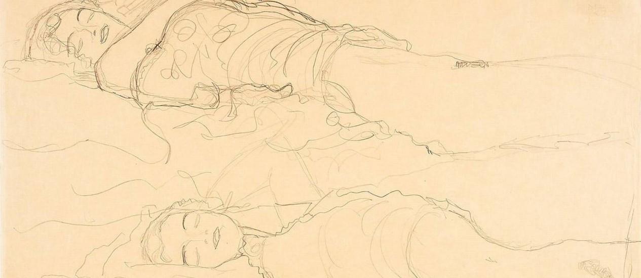 Desenho de Gustav Klimt devolvida ao museu de Linz por família de ex-funcionária Foto: Reprodução