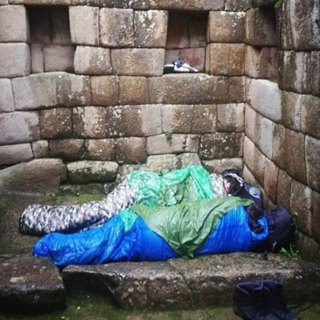 Turistas argentinos foram expulsos após dormirem em Machu Picchu Foto: Reprodução