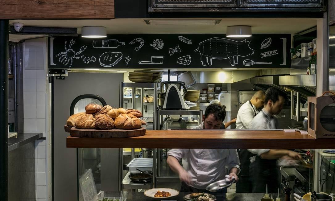 """Massa. O público adora ver as massas e os pães sendo feitos"""", comemora o chef Foto: Divulgação"""