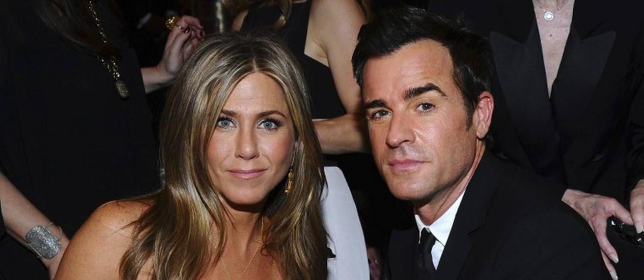 Jennifer Aniston e Justin Theroux anunciaram o fim do casamento Foto: Vince Bucci / Vince Bucci/Invision/AP