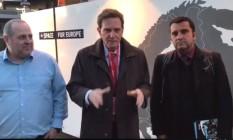 Crivella na Europa: prefeito, que viajou acompanhado de representantes da prefeitura, postou vídeo falando sobre os objetivos de sua viagem Foto: Reprodução Facebook