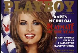 Em 1998, modelo Karen McDougal foi eleita Playmate do Ano Foto: Reprodução