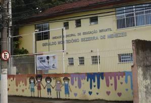 Creche. Fachada da Umei Geraldo Bezerra de Menezes, em Santa Rosa, uma das que atende crianças até 3 anos Foto: Fábio Guimarães / Fábio Guimarães