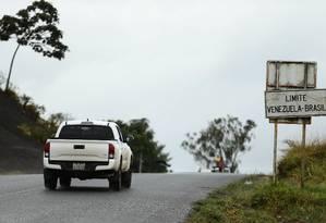 A fronteira da Venezuela com o Brasil Foto: Jorge William / Agência O Globo