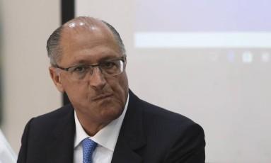 O governador de São Paulo, Geraldo Alckmin. Foto: Ailton Freitas / Agência O Globo
