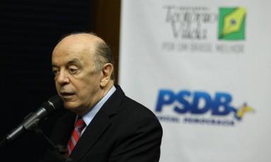 O senador José Serra Foto: Jorge William / Agência O Globo