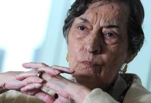 """Maria da Conceicao Tavares: """"Sem a eutanásia do rentista, o país não volta a crescer"""" Foto: Leo Pinheiro/""""Valor""""/18-8-2014"""