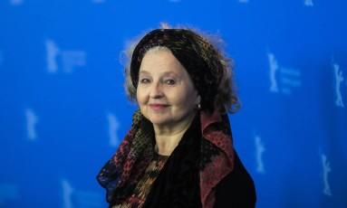 "A atriz Hanna Schygulla apresentou no Festival de Berlim o filme ""La prière"", de Cédric Kahn Foto: Markus Schreiber / AP"
