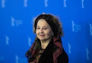 A atriz Hanna Schygulla apresentou no Festival de Berlim o filme